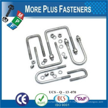 Fabriqué à Taiwan Round Bend U Bolt Semi Round Bend U Bolt Square Bend U Bolt Forged Top Semi Bend U Bolt